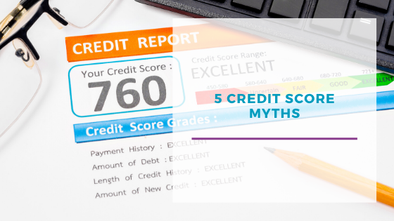 5 Credit Score Myths